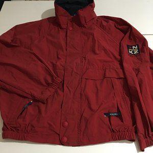Nautica NKZ Mens Large Red Windbreaker Jacket Vent